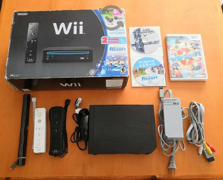 Nintendo wii black edition impecable