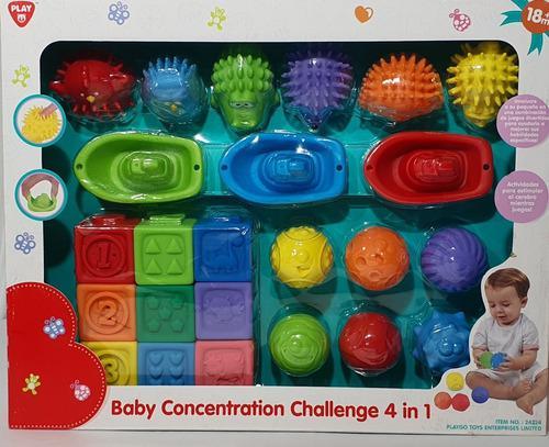 Set de juegos sensoriales cubos barcos juguetes bebe playgo