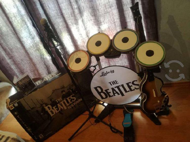 Set completo rock band the beatles ps3