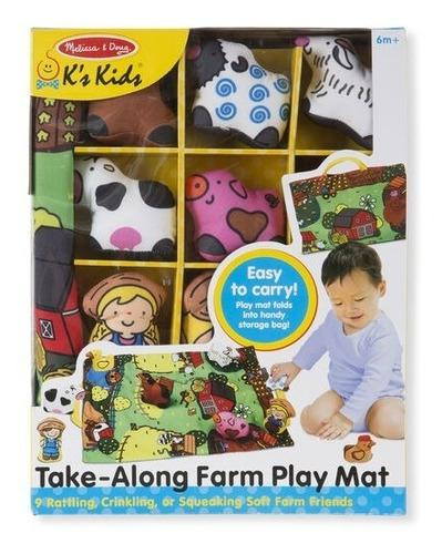 Tapete con animales granja de texturas melissa and doug