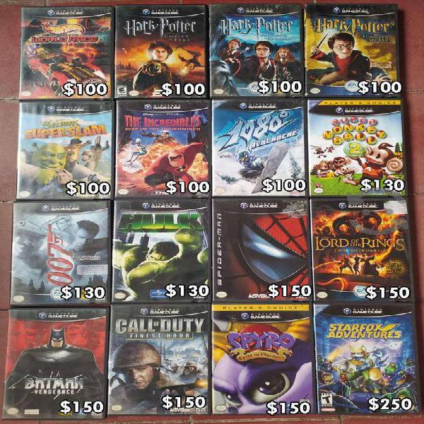 Venta de juegos para gamecube
