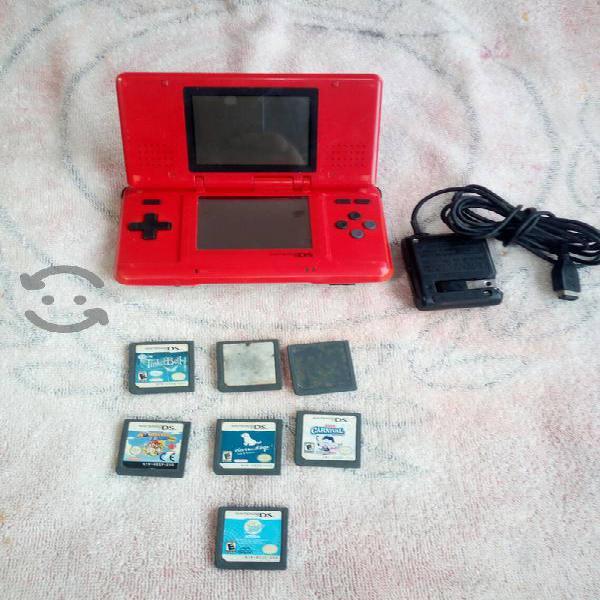 Nintendo ds fat con juegos y eliminador