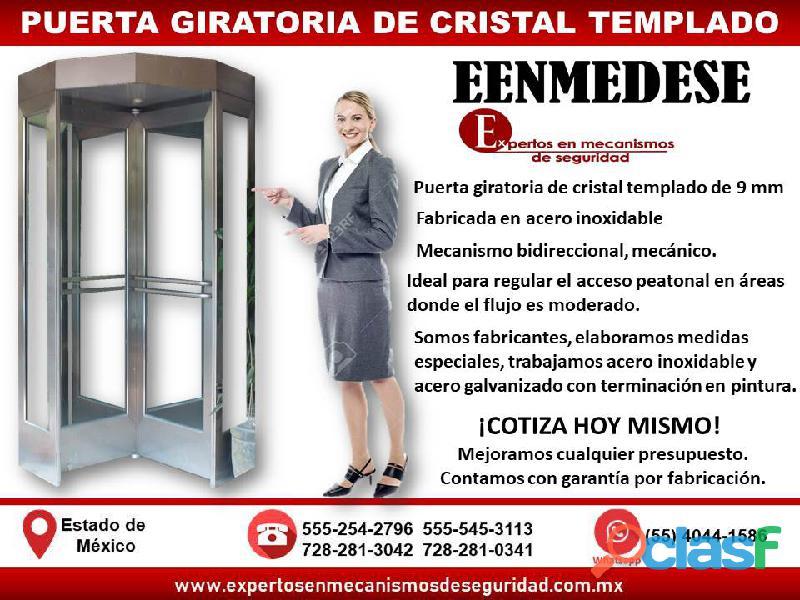 Puerta giratoria de cristal eenmedese