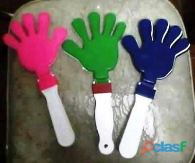 Manitas aplaudidoras de plastico colores varios