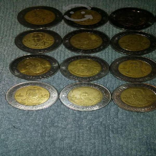 20 monedas de 5 pesos edicion bicentenario 2010
