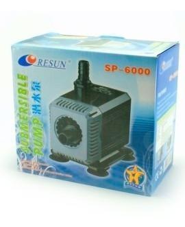 Bomba de agua resun sp-6000 flujo de 2500 lx h con regulador