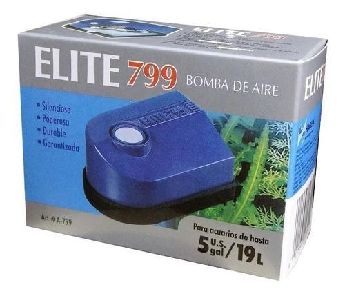 Bomba de aire elite 799 para acuarios de 20 litros