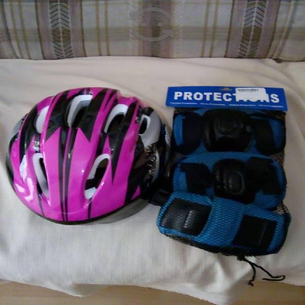 Casco proteccion niñas con accesorios nuevo