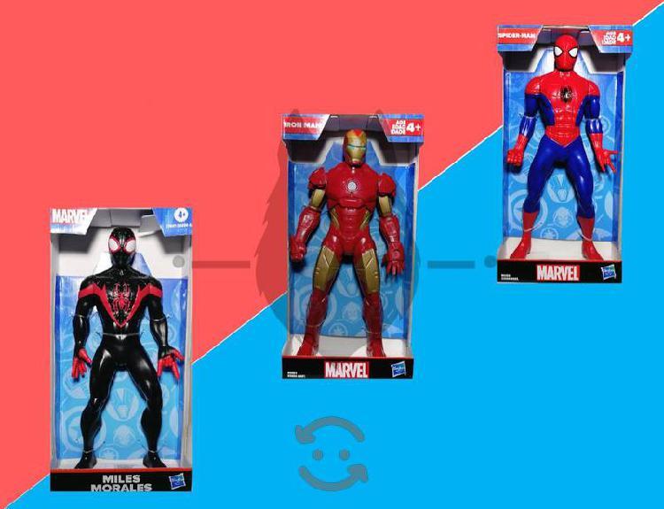 Figura de acción hasbro-marvel, spiderman, ironman