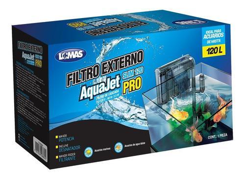 Filtro de cascada aquajet slim pro acuarios de 120 a 80 lts