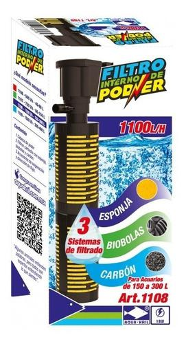 Filtro interno para acuarios de 1100 l/h 150-300 lt