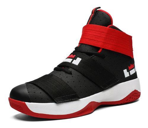 Hombres velcro zapatos de baloncesto al aire libre zapatilla