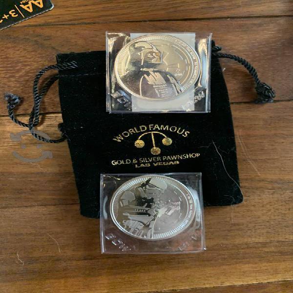 Monedas de plata edición especial star wars