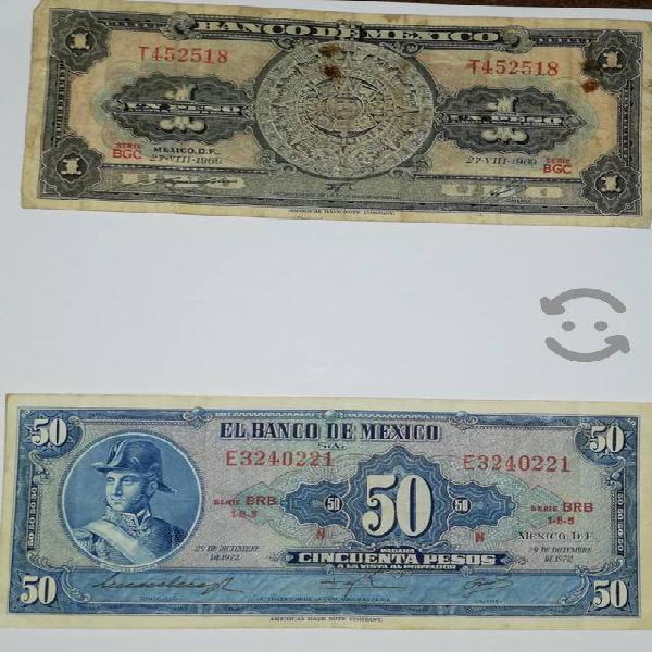 Monedas y billetes antiguos de méxico
