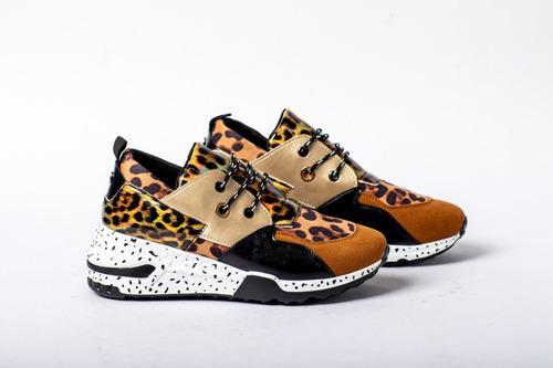 Tenis animal print leopardo