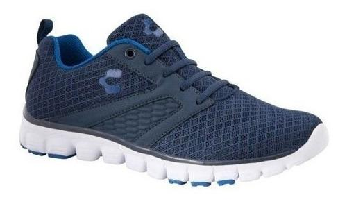 Tenis charly hombre running deportivo azul originales 2417