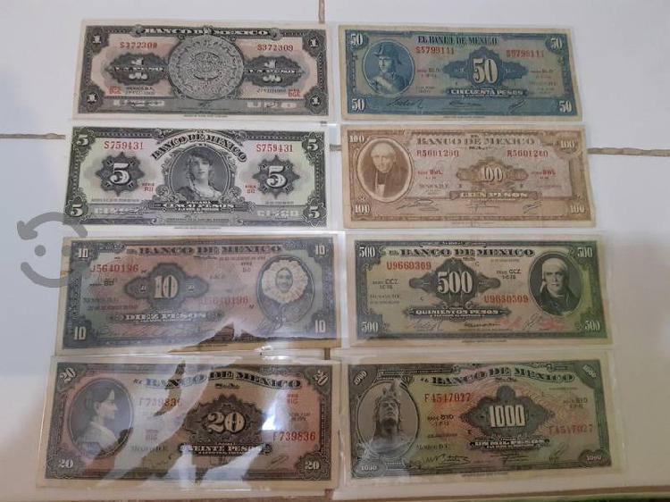 Coleccion billetes american bank note de 1 a 1000