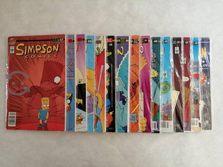 Lote 15 ejemplares simpson comics editorial vid