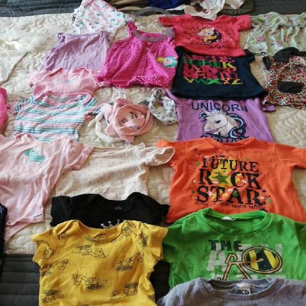 120 pz de ropa para niña 6m a 2 años
