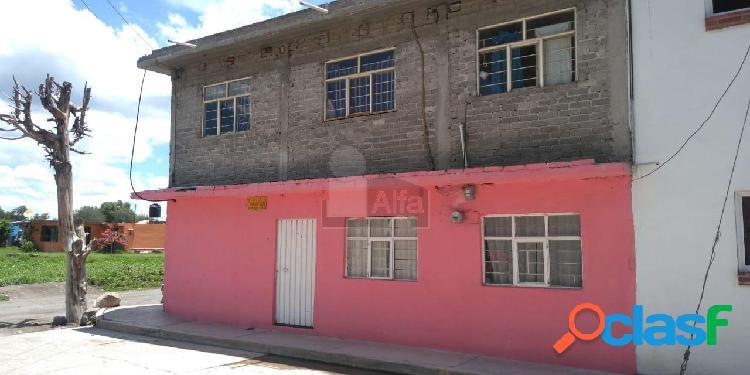 Casa sola en venta en santiaguito, texcoco, méxico