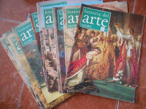 Lote de 12 fasciculos historia del arte salvat revistas
