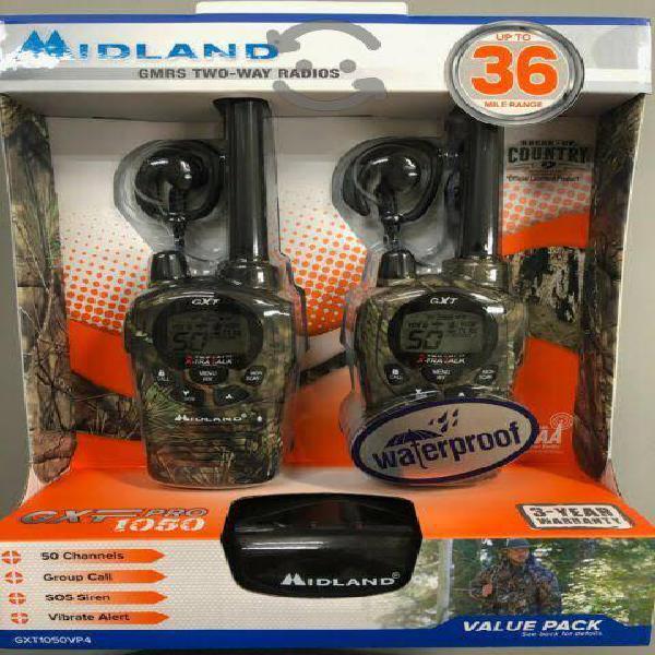 Midland gxt1050 kit radios 54km jis4 50 canales