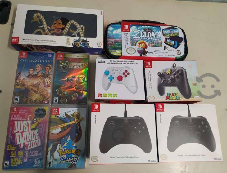 Nintendo switch juegos accesorio nuevos desde $340