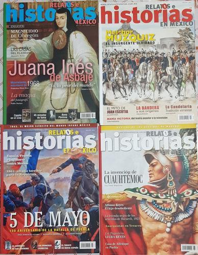 Paquete de 31 revistas de relatos e historias en méxico