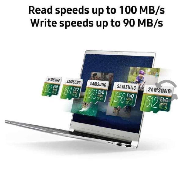 Samsung evo select memoria micro sd 512 gb clase 1