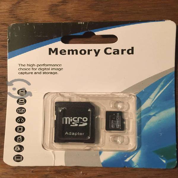 Tarjeta memoria micro sd clase 10 adaptador 128 gb