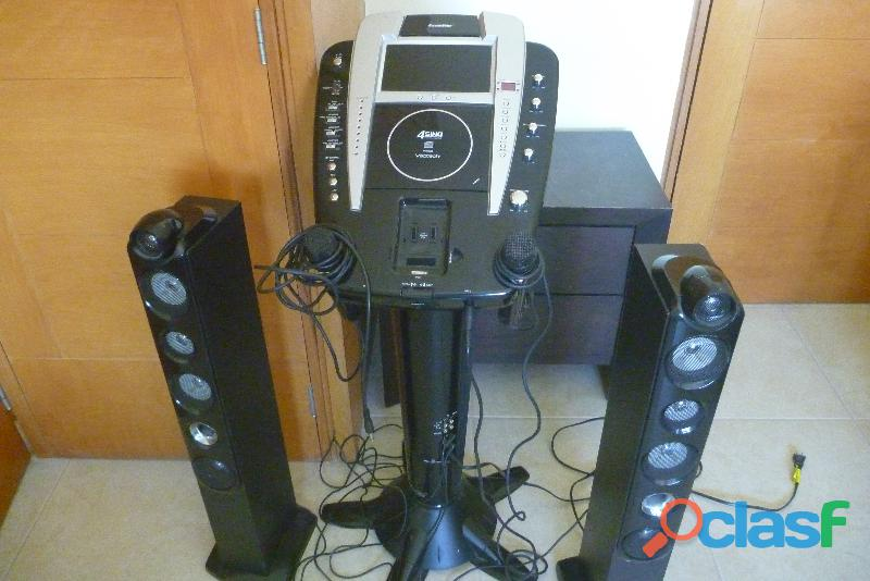 Karaoke machine de lujo, ponle ipod, incluye 18 discos originales.