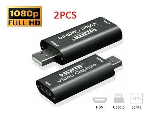 2pcs 4k 1080p hdmi grabador para usb 2.0