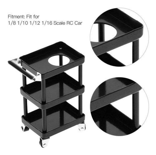 3 capas metal rc coche herramientas rack mantenimiento carro