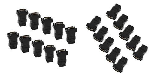Adaptador de extensor de video vga de 20 piezas sobre cat5