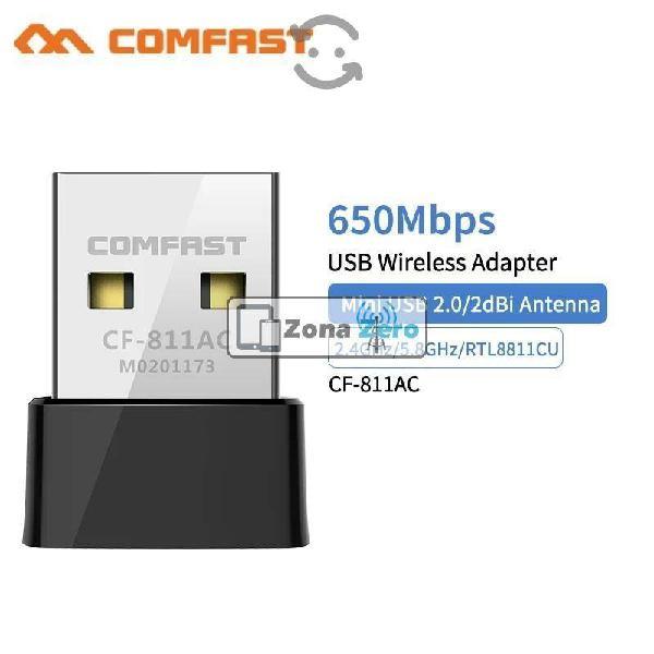Adaptador wifi 5g - 2.4g cf-811ac comfast