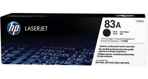 Cartucho tóner hp 83a negro, 1500 páginas original