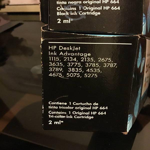 Cartuchos hp ink advantage 664