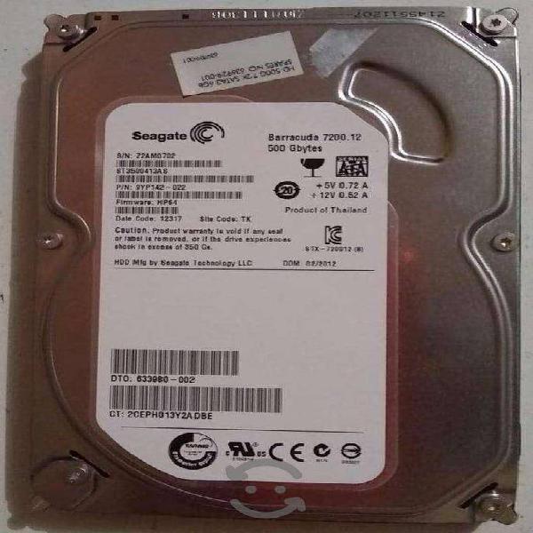 Discos duros pc sata 500 gb y 160 gb poco uso