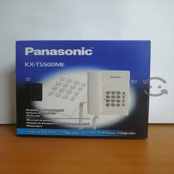 Panasonic teléfono alámbrico kx-ts500me, blanco