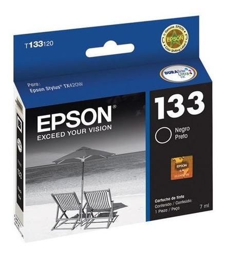 Tinta epson 133 stylus tx235w tx320f tx420w tx430w negro
