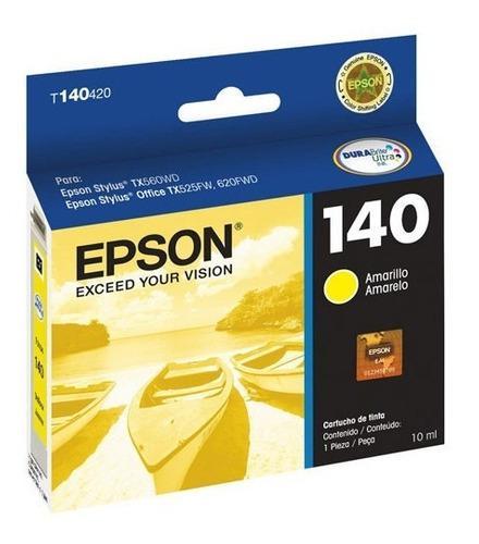 Tinta epson stylus 140 t140420-al color amarillo