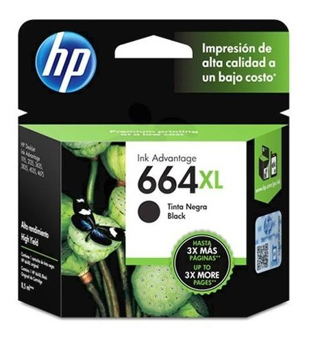 Tinta hp 664xl f6v31al color negro alto rendimiento