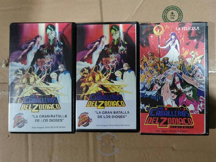 Caballeros del zodiaco vhs paquete de 3 películas