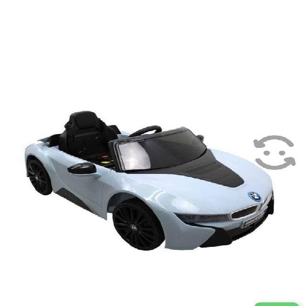 Auto eléctrico montable prinsel bmw i8 plata