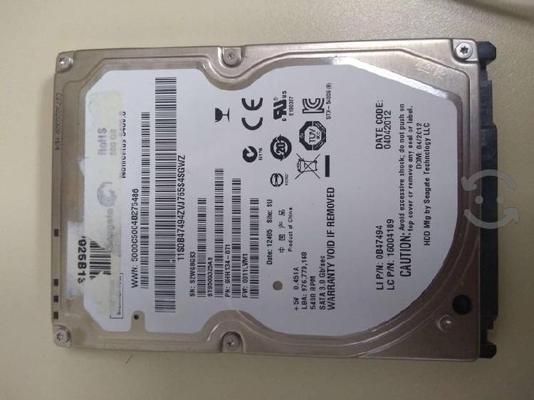 Discos duros sata para laptop 500gb