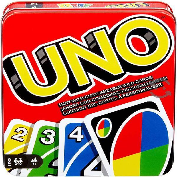 Juego de cartas mattel uno en lata nuevo y sellado