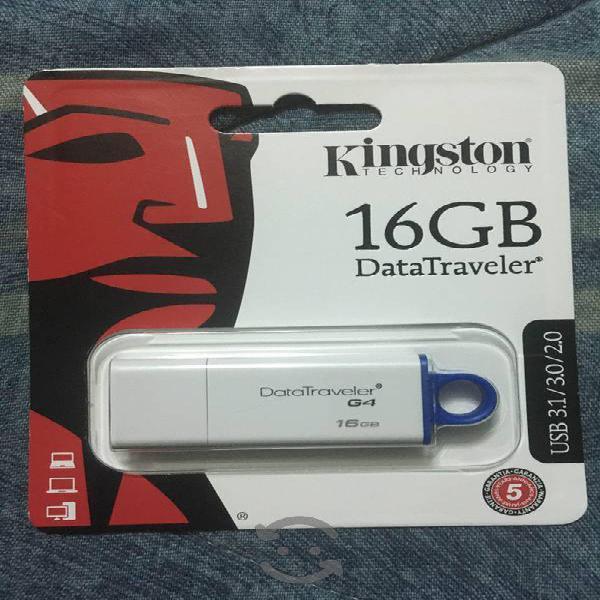 Memorias usb 16gb kingston 3.0 nuevas