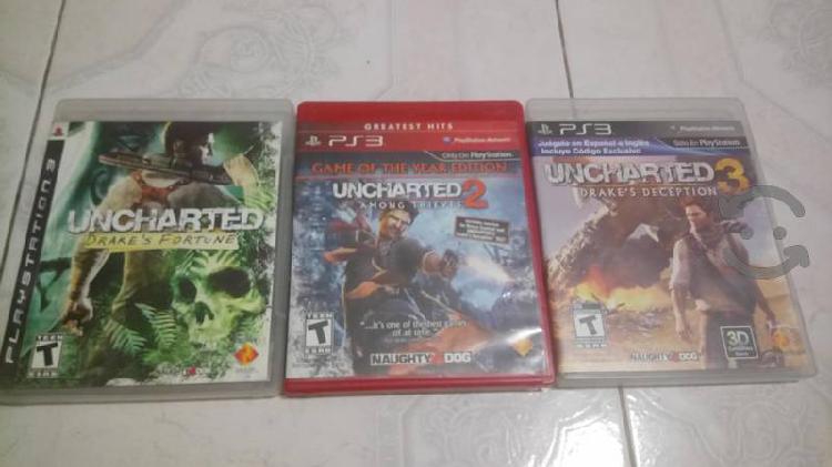 Trilogía uncharted ps3