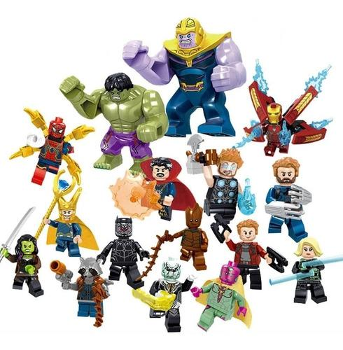 16pieza figuras armables thor hulk ironman capitán américa