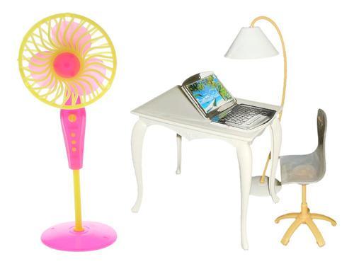 Accesorios de casa de muñecas en miniatura mesa de oficina